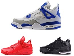 Wholesale Shinny Fabric - Cheap RETRO GG KNICKS Black and red shinny Retro IV 4s 11Lab4 mens basketball Shoes sneaker 4 Basket footwear sports athletic trainers