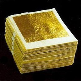 Wholesale 24K Real Edible Beauty mask gold leaf foil gold pieces X4 cm for one piece size