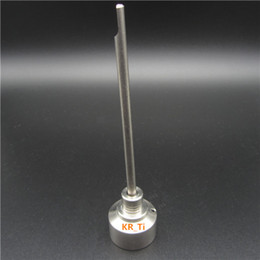 Hot Sell Titanium Carb Cap With Titanium dabber On Top And One Angled Hole For 14mm and 18mm Titanium Nail Glass Bongs