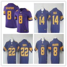 Wholesale 2016 newest arrive men Minnesota cheap Vikings jerseys Harrison Smith Stefon Diggs Color Rush Limited Jersey Bradford jerseys size S XL