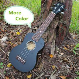 Wholesale More color Soprano Black Ukulele Video Evaluation Audition Inch Mini Strings Ukelele Guitarra Guitar Black Handcraft Uke