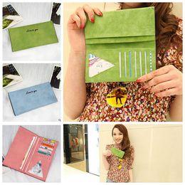 Wholesale Lady Long Wallet Card Holder Protector Women Handbag Best Love Wallets Clutch Credit Card Holder Leather Money Clip Wallet color KKA266