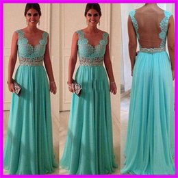 Dress Women Party Evening Long 2016 Free Shipping Mother of the Bride Dresses Cheap Blue Chiffon Evening Dresses