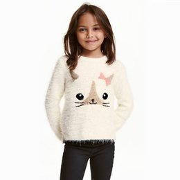 Wholesale 2016 New Kids Sweater Baby Girls Pullovers Children Cartoon Knitted Sweater Tops Autumn Winter Outwear In Stock MC0315