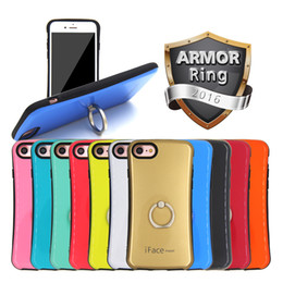 Wholesale Ring Holder For iphone Plus Samsung Note7 Mobile Cell Phone Cases cover s For Huawei LG Sony Armor Colorful Cool Iface mazel Hybrid Luxury