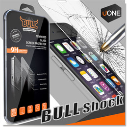 Wholesale Premium Qulaity Brand Bull Shock Tempered Glass Screen Protector For Iphone S Plus D mm with Retail Package