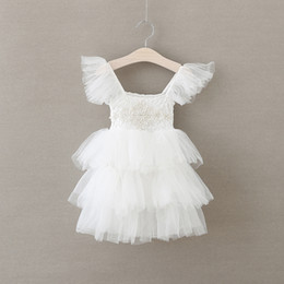 Ivory Lace Pom Dress, Baptism Girl, Rustic Flower Girl Dress Girls Lace Dress, Ivory Lace Dress, Christening Dress, Flower Girl Dress