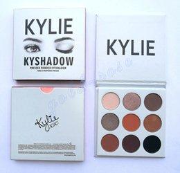 Wholesale High quality HOT NEW Kylie Jenner Kyshadow Pressed Powder Eyeshadow Kit Colors Eye Shadow Palette DHL GIFT