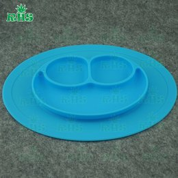 Wholesale Silicone feeding Silicone plate bowl dish placemat for toddlers FDA standard baby suction feeding healthy silicon plate F023