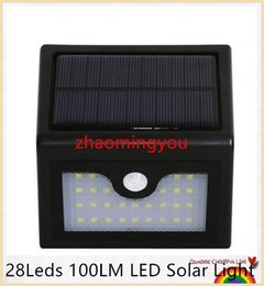 YON 28Leds 100LM LED Solar Light Solar Powered Led Outdoor Light Wireless Waterproof IP65 With PIR Motion Sensor Light