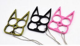 Wholesale New Self Defense Kitty Cat Novelty Keychain New Designer Car Key Pendants U Shape Metal Chains Promotion Key Bag Car Rings NAR041