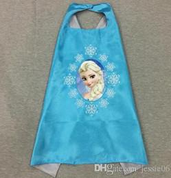 2016 anna manteau gelé Kids Girl superhero capes enfants Cartoon Cosplay Cloak Frozen Anna Elsa pour fête Halloween Noël 70cm Événement festif Fournitures accessoires anna manteau gelé sur la vente