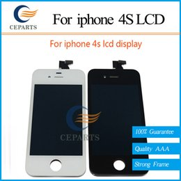 Wholesale AAA Best Quality White Black Replacement Parts For Apple iPhone S LCD Screen Display Assembly Complete Fast Shipping