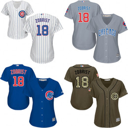 Wholesale 2016 World Series Champions patch Womens Chicago Cubs Ben Zobrist jerseys Cubs Baseball Jersey Shirt Lasies Stitched Size S XL