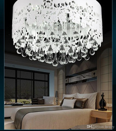 Wholesale Modern Acrylic carved crystal lamp Bedroom Ceiling lights crystal lamps Ceiling shape of water droplets one package