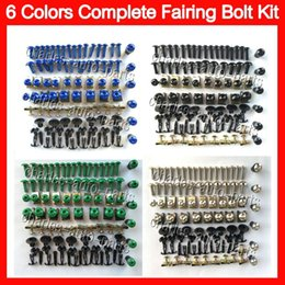 Wholesale 6 Colors Fit ALL Bikes Fairing bolts full screw kit For KAWASAKI NINJA ZX10R ZX11R ZX12R ZX14R ZZR Complete Body Nuts Black bolt screws set