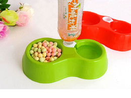 Wholesale Dual Port Dog Automatic Water Dispenser Feeder Utensils Bowl Cat Drinking Fountain Food Dish Pet Bowl WA0295