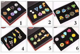 6style Children gift box Poke Metal Badge Brooch Poke mon Zinic Alloy Brooch Poke Action Figures Anime toys 2.5-3.3cm 8pcs set
