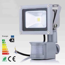 Outdoor LED flood lights with PIR Motion Senser 10W 20W 30W 50W 80W led floodlight Induction for garden lamp Waterproof lighting