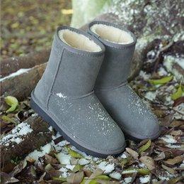 Wholesale female fur military boots ankle snow Berkane women winter leather australian girls boots suede shoes women footwear