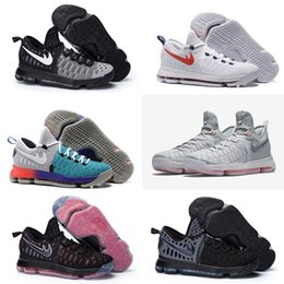 Wholesale With shoes Box New Kevin Durant KD Men WHITE UNIVERSITY RED BASKETBALL SHOE Shoes Athletic Sneaker