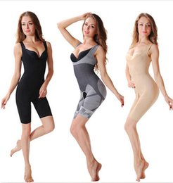 Wholesale Slimming Bamboo High Quality - Promotion !!! Women's body shaper High Quality Slim Corset Slimming Suits Bodysuit Shapewear Bamboo Charcoal Sculpting Underwear
