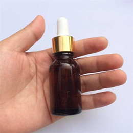 Wholesale ml Amber Glass Jars Reagent Eye Dropper Drop Aromatherapy Liquid Pipette Bottles