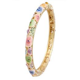 Cloisonne Bracelet female fine hollow retro fashion enamel plated bracelet gold plated fashion gift to send his girlfriend