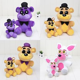 Wholesale 25cm cm FNAF Five Nights At Freddy s plush toy Shadow Bear Golden Freddy Fazbear Mangle Nightmare Fredbear plush keychain pendant toys
