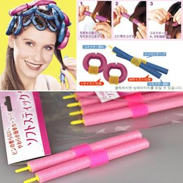 Wholesale Self adhesive curling hair curling tools sponge curling hair does not hurt hair pearl magic hair curler pack YT01