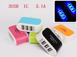 Wholesale Universal V Ports USB Wall Charger Travel Adapter for iPhone iPad Samsung HTC Android Mobile Phone Tablet