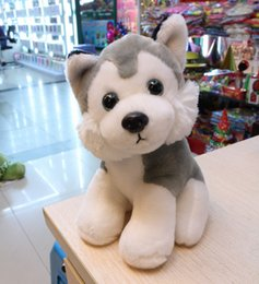 Wholesale 18cm Lovely Dog Stuffed Plush Animal Toy Good Little Alaska Dog Very Soft Vivid and High Quality Cheap Sale