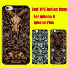 Wholesale For iphone SPlus plus Zodiac Case Soft TPU Gel Phone Cover Constellations Aries Taurus Gemini Libra Sagittarius Pisces DHL Free SCA150
