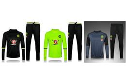 Wholesale thai quality Chelsea jacket Training suit kits soccer Jersey PEDRO FABREGAS HAZARD DIEGO COSTA WILLIAN KANTE football shirts