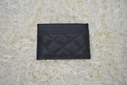 Wholesale famous brand Genuine lambskin caviar Leather wallets Women classic Luxury diamond lattice CM C card holders