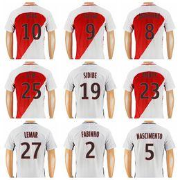 Wholesale 2016 Monaco Soccer Jersey Thailand Club Football Shirt Player Version MOUTINHO FALCAO SIDIBE SILVA NASCIMENTO FABINHO