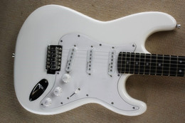 ST Electric guitar White body and Pick Guard Ebony Fingerboard High Quality CUSTOM SHOP Free Shipping