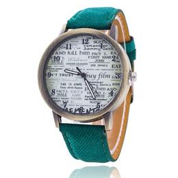 Wholesale Unisex Quartz Watches Men Women Sport WristWatches Denim Fabric Watch News Paper Fashion Analog Clock DHL