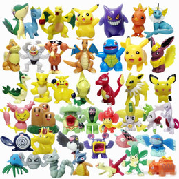 Wholesale Poke Figures Toys Gifts PVC Mini Model Toys For Children kids cm Pikachu Charizard Eevee Bulbasaur Suicune action figures free express