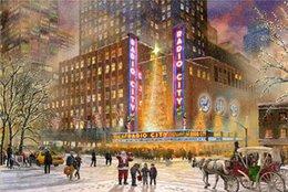 Wholesale High tech Thomas Kinkade HD Print Oil Painting Art On Canvas radio city music hall x36inch Unframed