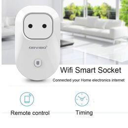 Wholesale Origin Orvibo S20 WiFi Smart Socket Smart power plugs EU US UK AU Standard Power Socket Home Automation works with Echo household electrical