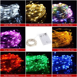 Wholesale hot sale led copper wire string fairy light lights waterproof battery powered christmas wedding party decoration M