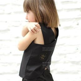 2016 summer new sleeveless vest T-shirt fashion vest T-shirt 100% Handmade Summer Toddler Kids Baby Girls Outfits Clothes Sleeveless T-shirt