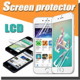 Wholesale Clear Transparent Front LCD Screen Protector Film Guard With Clean Cloth For iPhone S Plus SE S Galaxy S6 Edge Free Ship MOQ