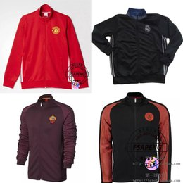 Wholesale 2016 design Mexico America Manchester Real Madrid football training clothes jacket spring fall fashion slim long sleeved sports Manchester j