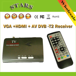 Wholesale P Full HD Mpeg H Digital Terrestrial HDMI DVB T T2 TV Box VGA AV CVBS TV Tuner Receiver Converter With Remote Control