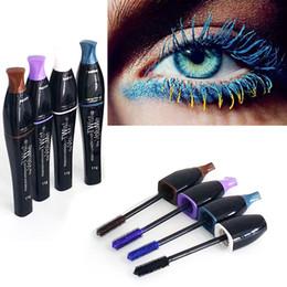 Wholesale 2016 Brand New Professional Waterproof colorized blue purple black brown Mascara Charming Longlasting makeup Cosmetic Make Up