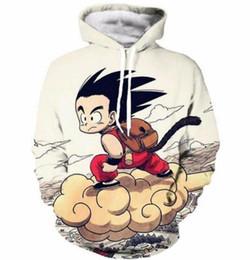Anime Dragon Ball Z Sweatshirts Cute Kids 3D Print Goku Hoodies Pullovers Men Women Outerwear Hip Hop Hoodie S-5XL