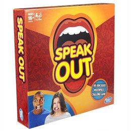 Wholesale Fast Deliver Speak Out Game Amusement Toys Party Board Game Novelty Games Ridiculous Mouthpiece Challenge Game Friends and Family KTV Games