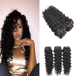 Brazilian Hair Deep Wave Cheap Brazilian Hair Extensions 3 Pcs lot Brazilian Deep Wave Human Hair Unprocessed Hair Weave Wholesale